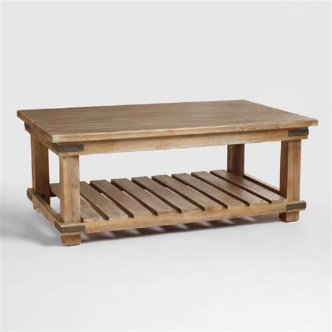 modern vented slats mango wood accent coffee table cameron coffee table world market