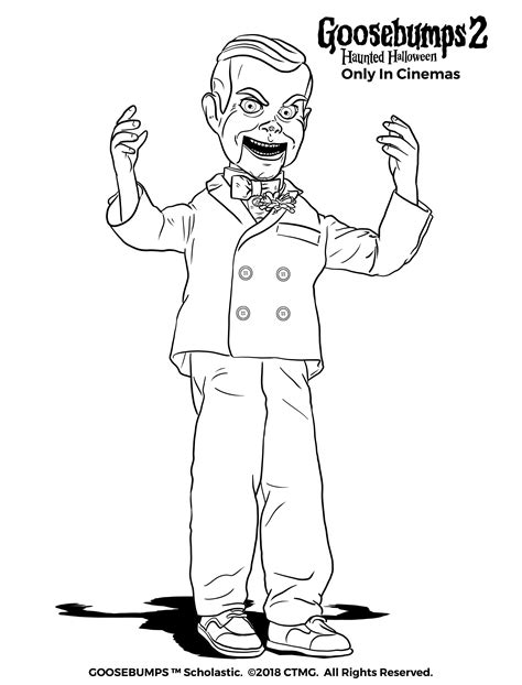goosebumps coloring pages slappy pages coloring pages