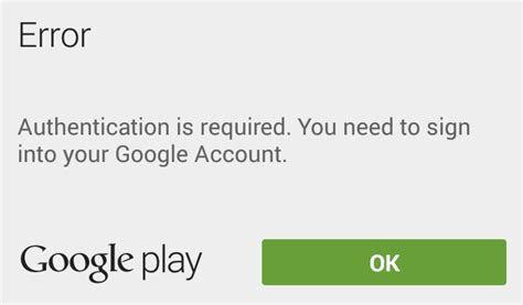 Play Store Authentication Is Required Cara Memperbaiki Error Quot Authentication Is Required Quot