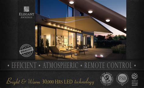 Patio Awning Lights by Awnings With Lights Patio Awning Lights By Uk