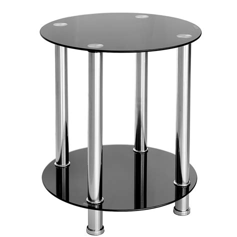 black glass side table furniture by chaisse limited black glass