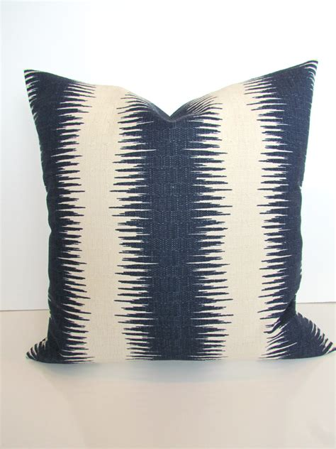 Navy Pillows For by Blue Pillows Navy Blue Stripe Throw Pillow Covers Gray Ikat 20