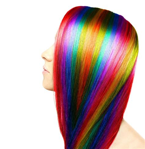 plastic rainbow hairthings rainbow hair color 14 magically colorful styles to try out