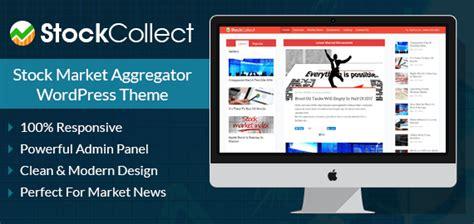 Stock Market Aggregator Site Wordpress Theme Inkthemes Stock Market Website Template Free