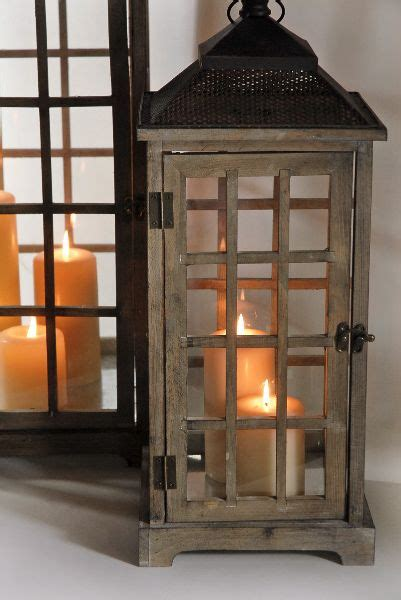 lanterns set   wooden lanterns  pinterest