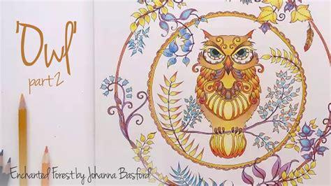 secret garden coloring book owl enchanted forest johanna basford owl part 2