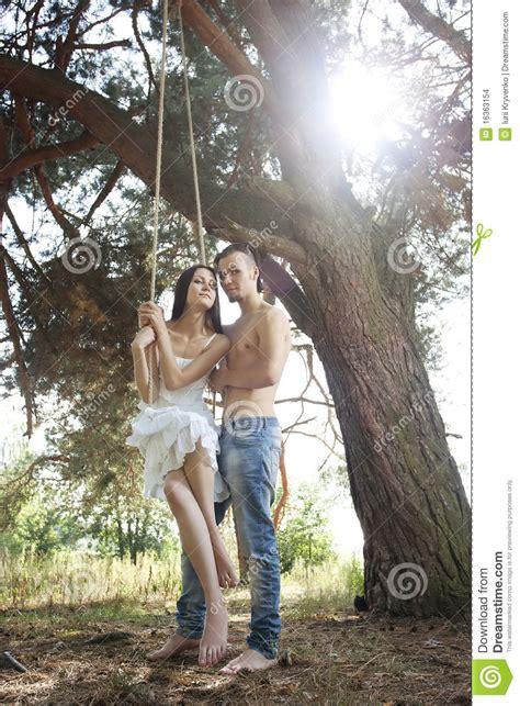 swinging marriage young happy couple swinging stock images image 16363154