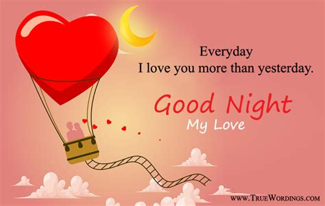 romantic good night quotes special love images  lovers herhim