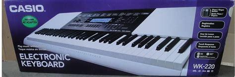 Keyboard Casio Wk 220 Baru new casio wk 220 keyboard 76 touch sensitive with