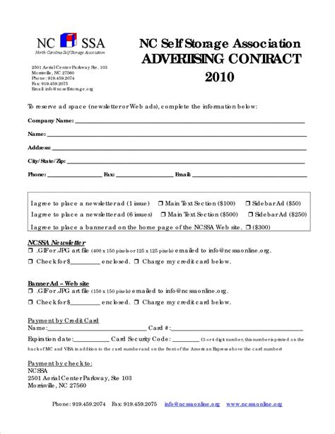 Advertising Contract Sle Qualads Email Contract Template