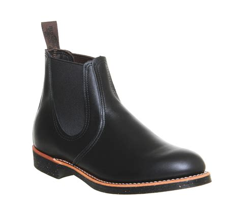 Black Master Boots Laskar Size 39 44 redwing chelsea rancher boots black leather stiefel