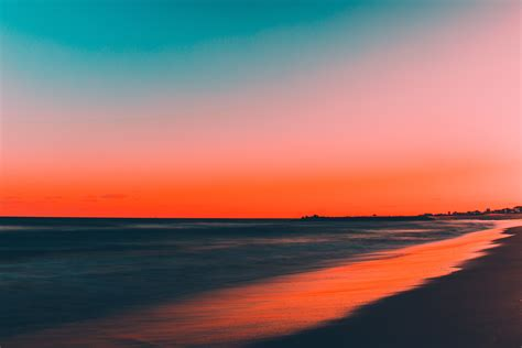 nature water beach sunset wallpapers hd desktop