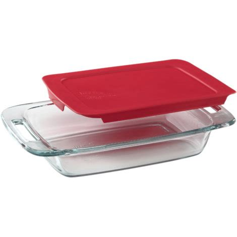Pyrex Oblong Dish 2 8 L pyrex easy grab 2 qt oblong baking dish with lid by pyrex