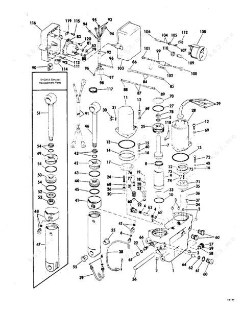 Evinrude 1978 115 115890c Power Tilt And Trim Parts