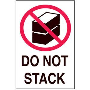 fragile labels do not stack from seton com stock items