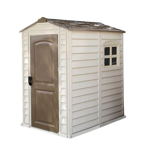 duramax woodside plastic apex shed  garden street