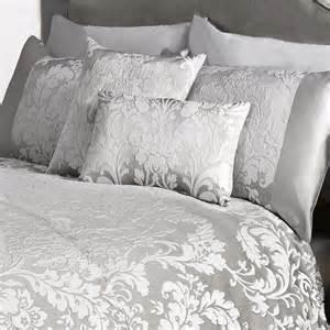 white and silver duvet sets marston damask duvet cover embossed floral motif silver