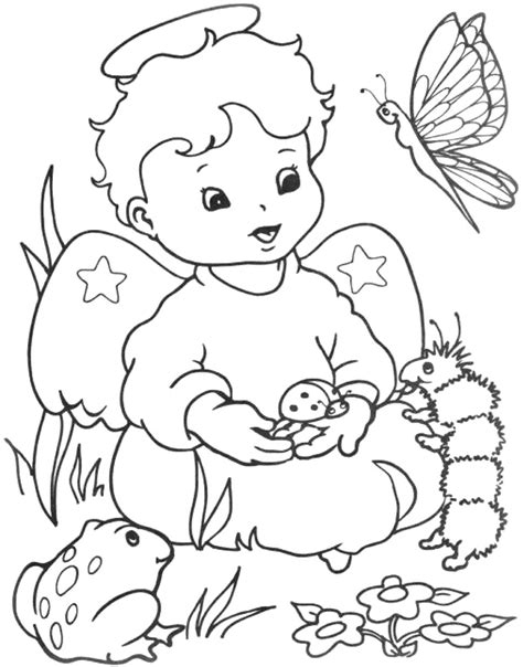 chibi angel coloring pages coloring pages