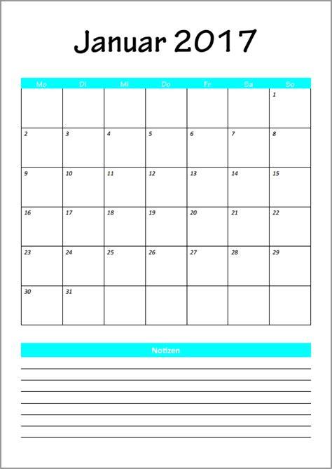 Kalender Ausdrucken Monat Kalender 2017 Je 1 Monat Januar Kalender