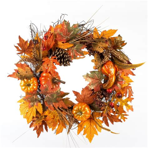 top 28 decorate wreaths fall home accents 22 in artificial pumpkin harvest