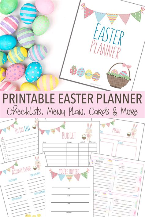 printable easter planner the easter planner you need to get organized printable