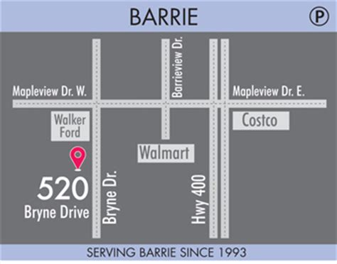 stores barrie barrie map