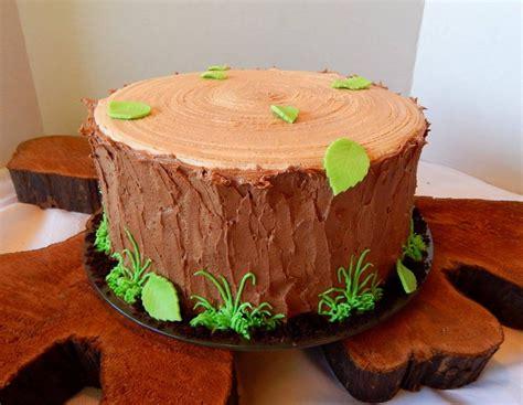 tree cake recipes tree stump cake cakecentral