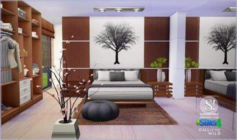 furniture by simcredible custom content call of the wild bedroom at simcredible designs 4 187 sims
