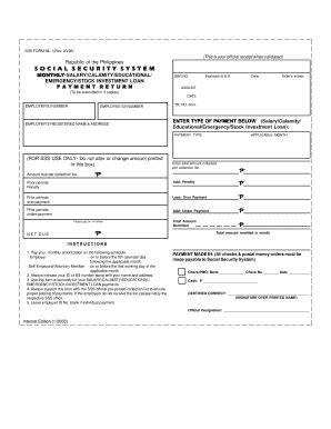 sss loan application form sss ml 1 2017 fill online printable fillable blank