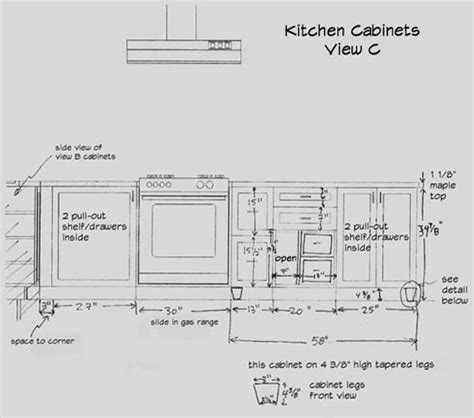 Draw Kitchen Cabinets Kitchen Cabinet Drawing What You Need To Know Before
