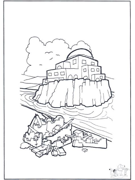 coloring pages house on the rock 17 best images about bible house on rock sand on