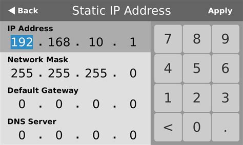 ip address sections configure a static ip address