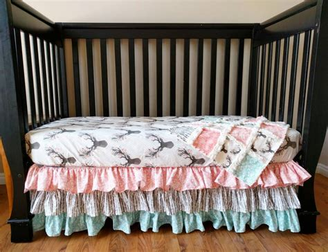 Woodland Nursery Bedding Set Woodland Bedding Baby Floral Stag Crib Set For Baby