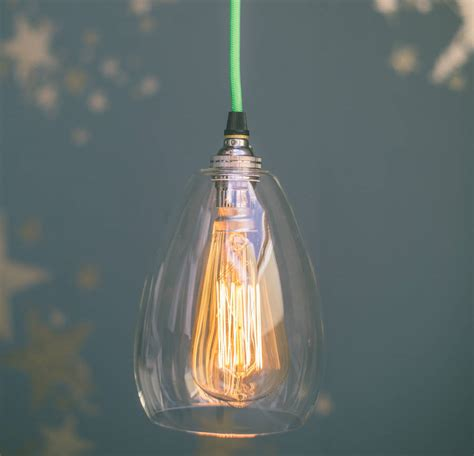 custom blown glass pendant lights jules clear glass handblown pendant light by glow lighting