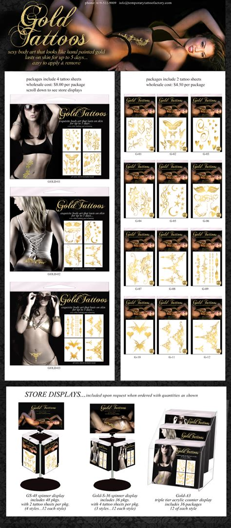 temporary tattoos mfg sexytattoo packages wholesale