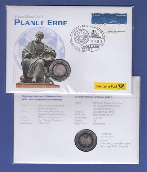 Offizieller Deutscher Brief 5 M 252 Nze Planet Erde 2016 In Offiziellem Numisbrief