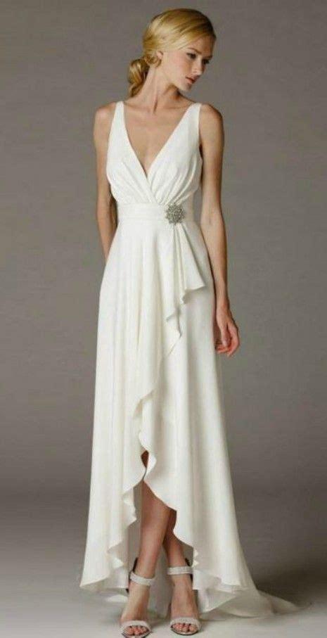 simple elegant high  wedding dress  older brides
