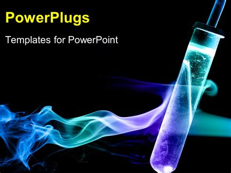 Powerpoint Template Flash With Chemicals In Flame And Flash Powerpoint Templates