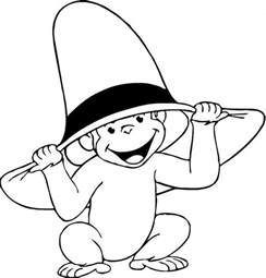 curious george coloring page curious george clip free az coloring pages