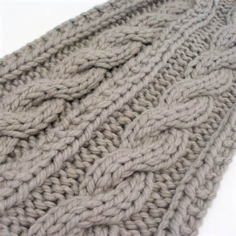 Chunky cable knit scarf pattern vintage knitting pattern pdf aran