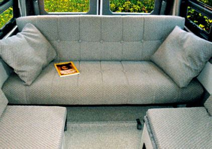 conversion van sofa bed sportsmobile custom cer vans seats beds