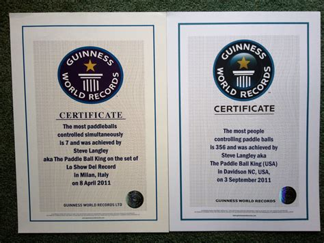 Records Certificates Thinking Of Setting A Guinness World Record 183 Ija