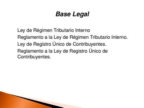 reglamento a la ley de regimen tributario interno ao 2014 beneficios artesanos