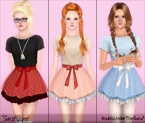 for my sims sunset caramel kawaii mini dress anubis sims stuff sunset caramel kawaii mini dress