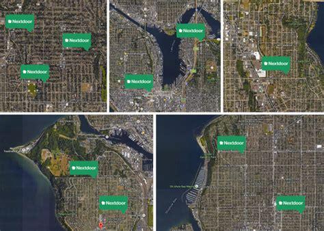 seattle map satellite the rise of nextdoor in seattle neighborhood social