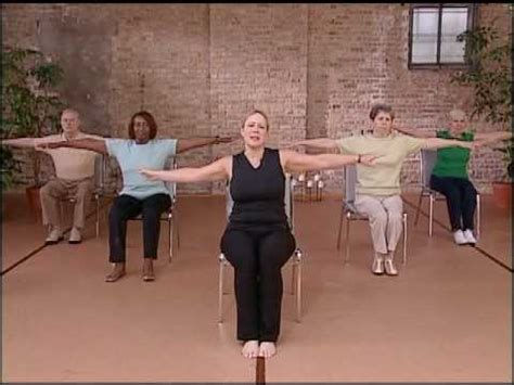 core fitness chair pilates workout abdominal exercise  seniors chair exercise youtube