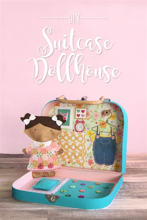 Handmade Suitcase - the craft patch diy suitcase miniature dollhouse tutorial