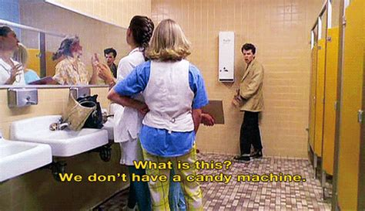 what women want bathroom scene gif girls candy movie gifs sixteen candles ducky washroom