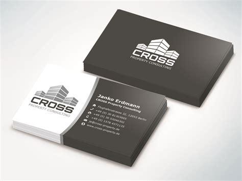 Visitenkarten Vorlagen Modern Cross Visitenkarten Wowasweb