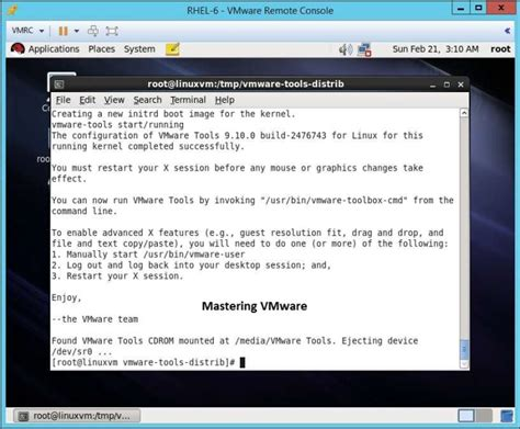 reset vmware tools how to install vmware tools in linux mastering vmware